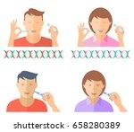 hand taking a bodily fluid... | Shutterstock .eps vector #658280389