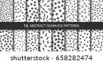 set of vector abstract seamless ... | Shutterstock .eps vector #658282474