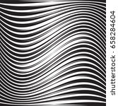 modern pattern with wavy lines... | Shutterstock .eps vector #658284604