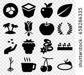 leaf icons set. set of 16 leaf... | Shutterstock .eps vector #658286335