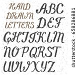 hand drawn uppercase letters of ... | Shutterstock .eps vector #658286881