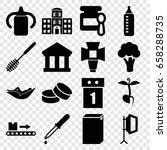 nobody icons set. set of 16... | Shutterstock .eps vector #658288735