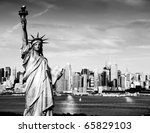 photo statue of liberty new... | Shutterstock . vector #65829103
