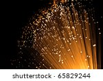 golden glowing fibre optic...   Shutterstock . vector #65829244