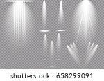 vector light sources  concert... | Shutterstock .eps vector #658299091