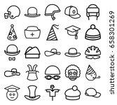 hat icons set. set of 25 hat... | Shutterstock .eps vector #658301269