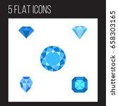 flat icon gem set of karat  gem ... | Shutterstock .eps vector #658303165