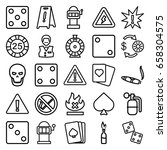 risk icons set. set of 25 risk... | Shutterstock .eps vector #658304575