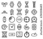 clock icons set. set of 25... | Shutterstock .eps vector #658308685
