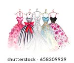 watercolor fashion... | Shutterstock . vector #658309939