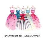 watercolor fashion... | Shutterstock . vector #658309984
