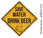 save water drink beer vintage... | Shutterstock .eps vector #658311121