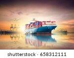 logistics and transportation of ... | Shutterstock . vector #658312111