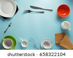 kitchenware at abstract... | Shutterstock . vector #658322104
