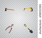 realistic forceps  spade  arm... | Shutterstock .eps vector #658322281