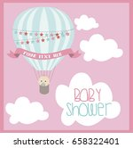 baby shower card with air... | Shutterstock .eps vector #658322401