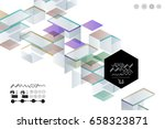 abstract digital geometric... | Shutterstock .eps vector #658323871