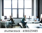 picture of young colleagues... | Shutterstock . vector #658325485