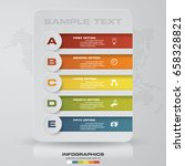 infographic design template 5... | Shutterstock .eps vector #658328821