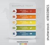 infographic design template 5... | Shutterstock .eps vector #658328821