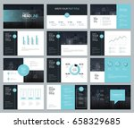 page layout design template for ... | Shutterstock .eps vector #658329685
