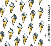 seamless pattern of ice cream.... | Shutterstock .eps vector #658332205