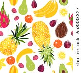 fruit. seamless vector pattern | Shutterstock .eps vector #658333327