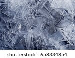 transparent ice crystals... | Shutterstock . vector #658334854