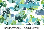 seamless pattern with tropical... | Shutterstock .eps vector #658334941