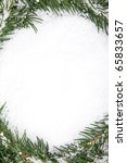 christmas framework with snow... | Shutterstock . vector #65833657