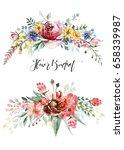 flower bouquet | Shutterstock . vector #658339987