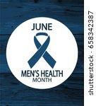 men's health month card or...   Shutterstock .eps vector #658342387