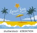 grace bay turcos y caicos | Shutterstock .eps vector #658347454