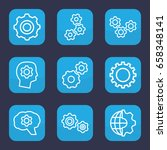 gears icon. set of 9 outline... | Shutterstock .eps vector #658348141