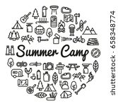 summer camp word with icons  ... | Shutterstock .eps vector #658348774