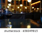 dinner with wine table... | Shutterstock . vector #658349815