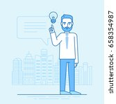 vector illustration in flat... | Shutterstock .eps vector #658354987