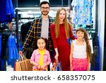 happy family shopping | Shutterstock . vector #658357075