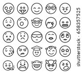 emotion icons set. set of 25... | Shutterstock .eps vector #658357525