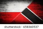 flags of poland and trinidad... | Shutterstock . vector #658360537