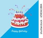 birthday cake. vector... | Shutterstock .eps vector #658361884