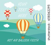 hot air balloon festival  ... | Shutterstock .eps vector #658362295