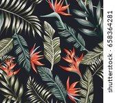 seamless vector pattern of... | Shutterstock .eps vector #658364281