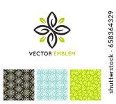 vector set of design elements... | Shutterstock .eps vector #658364329