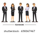 business people teamwork ... | Shutterstock .eps vector #658367467