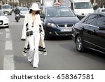 paris march 9  2015. street... | Shutterstock . vector #658367581