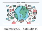 concept of travel and tourism.... | Shutterstock .eps vector #658368511