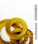 circle vector background design ... | Shutterstock .eps vector #658368841