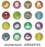 sport vector icons for user... | Shutterstock .eps vector #658369765