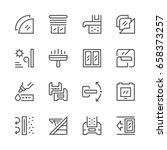 set line icons of window...